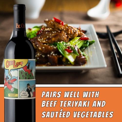 Odd Lot Cabernet Sauvignon-Syrah Red Blend Wine Perspective: right