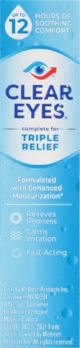 Clear Eyes Triple Action Lubricant Eye Drops Perspective: right