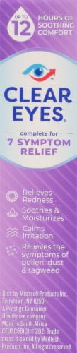 Clear Eyes Complete 7 Symptom Relief Enhanced Formula Eye Drops Perspective: right