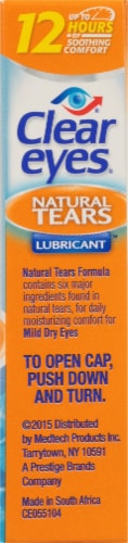 Clear Eyes Natural Tears Mild Dry Eyes Lubricant Perspective: right