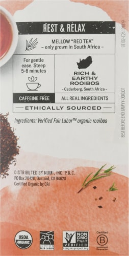 Numi® Organic Rooibos Tea Bags Perspective: right