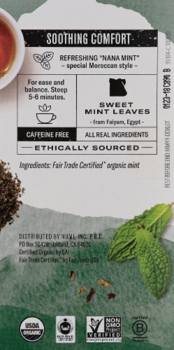 Numi Organic Moroccan Mint Tea Bags Perspective: right
