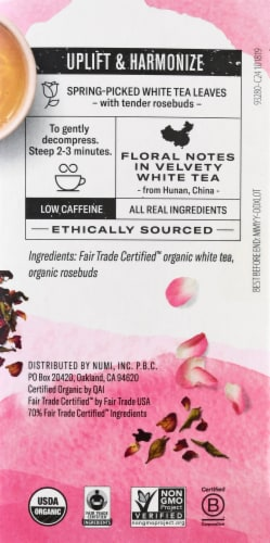 Numi  Velvet Garden™ White Rose Tea Bags Perspective: right