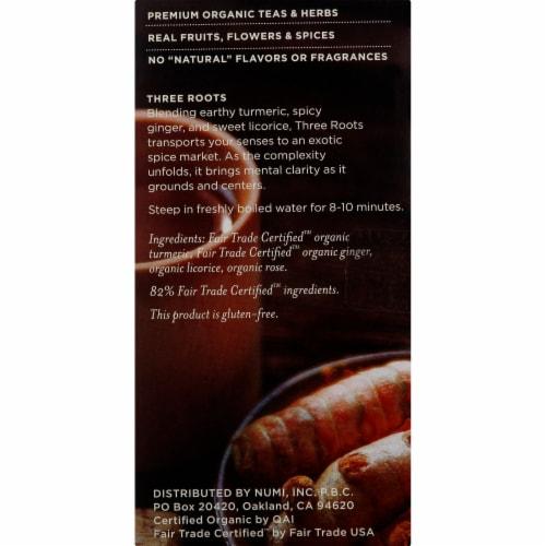 Numi Organic Turmeric Three Roots Tea Perspective: right