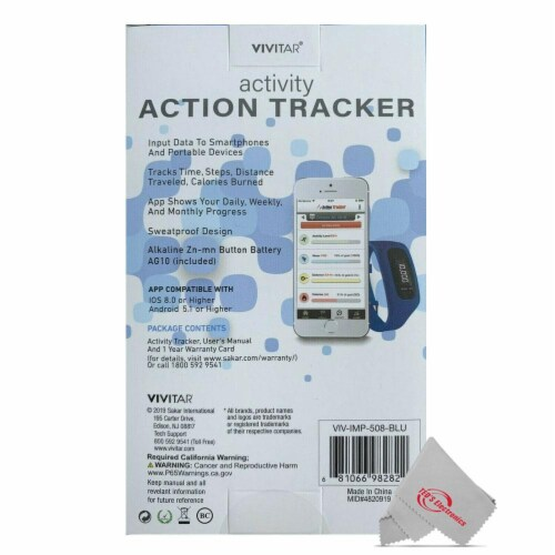 Vivitar Activity Tracker Fitness Watch Sweatproof Design Ios Android Compatible Perspective: right