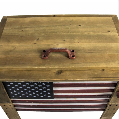 Backyard Expressions 57 Qt. Decorative Outdoor American Flag Cooler Perspective: right