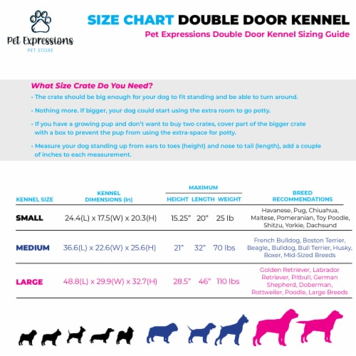 Backyard Expressions Pink 24 Inch Foldable Double Door Metal Pet Crate Perspective: right