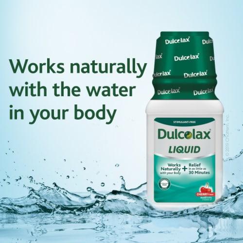 Dulcolax® Cherry Flavor Liquid Saline Laxative Perspective: right