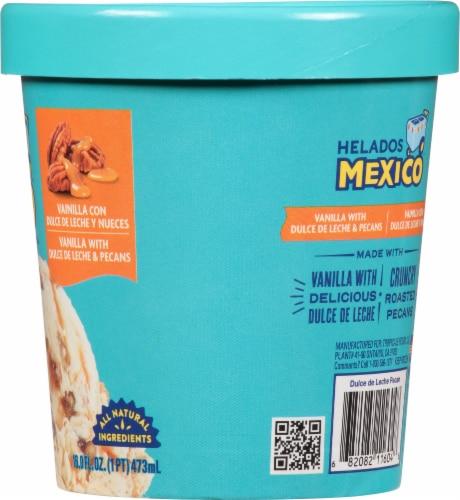 Helados Mexico Vanilla Dulce de Leche and Pecans Ice Cream Perspective: right