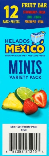 Helados Mexico Variety Mini Fruit Bars 12 Count Perspective: right