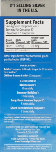 Sovereign Silver Bio-Active Immune Support Hydrosol Dropper Perspective: right