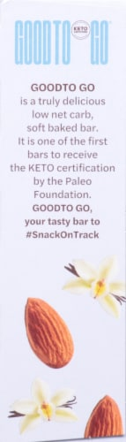Good To Go Vanilla Almond Soft Baked Keto Snack Bars Perspective: right