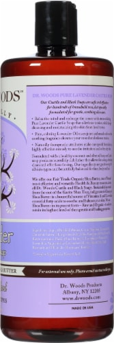 Dr. Woods Naturally Castile Soap Lavender with Fair Trade Shea Butter Perspective: right