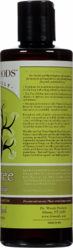 Dr. Woods Naturally Castile Soap Tea Tree with Fair Trade Shea Butter Perspective: right
