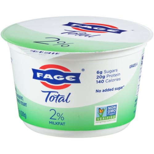 Fage Total 2% Greek Strained Yogurt Perspective: right