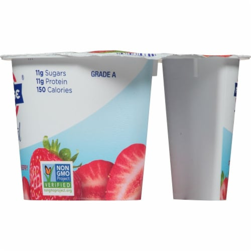 Fage Total 5% Milkfat Strawberry Greek Yogurt Perspective: right