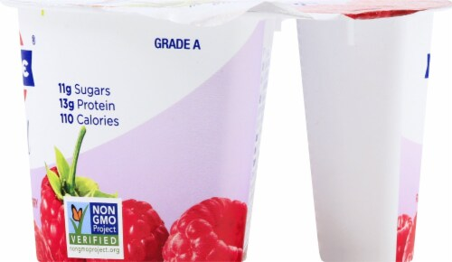 Fage Total 0% Milkfat Raspberry Greek Yogurt Perspective: right