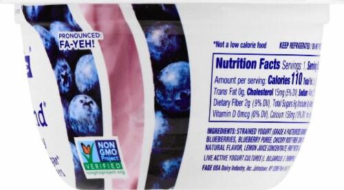 Fage TruBlend Lowfat Blueberry Greek Yogurt Perspective: right