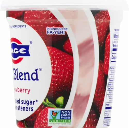 Fage TruBlend Lowfat Strawberry Greek Yogurt Perspective: right