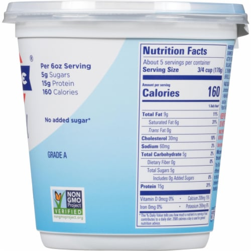 Fage Total 5% Greek Strained Yogurt Perspective: right