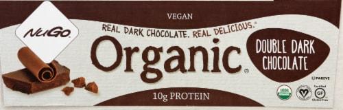 NuGo Organic Double Dark Chocolate Protein Bars Perspective: right