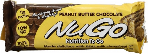 NuGo Nutrition To Go Bars Peanut Butter Chocolate Perspective: right