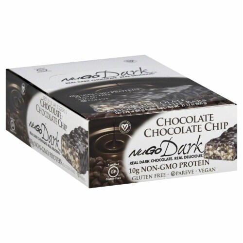 NuGo Dark Chocolate Chocolate Chip Bars Perspective: right