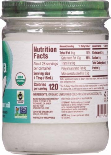 Nutiva Organic Virgin Coconut Oil Perspective: right
