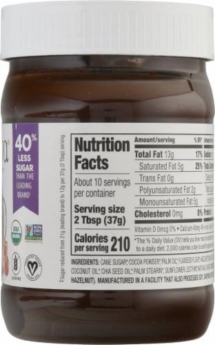Nutiva® Organic Gluten Free Hazelnut with Cocoa Dark Spread Perspective: right