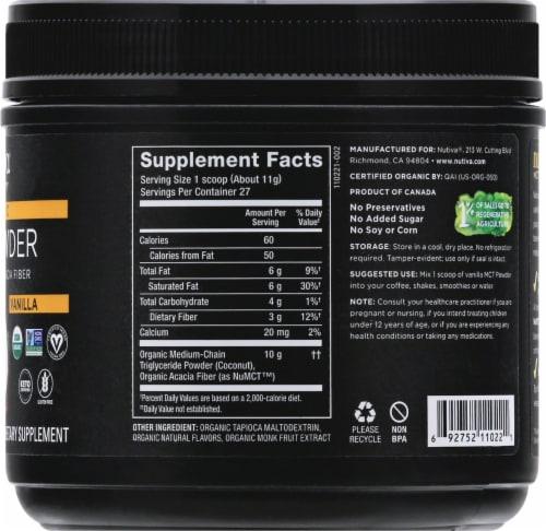 Nutiva MCT Powder with Prebiotic Acacia Fiber - Vanilla Perspective: right