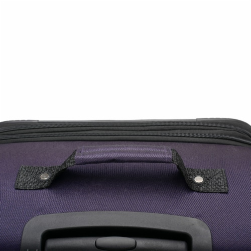 U.S. Traveler Esther 3-Piece Expandable Spinner Luggage Set - Purple Perspective: right