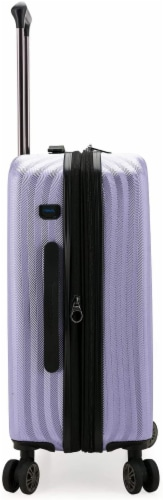 Traveler's Choice Dana Point Expandable Hard-Shell Luggage Set with USB Port - Light Lavender Perspective: right