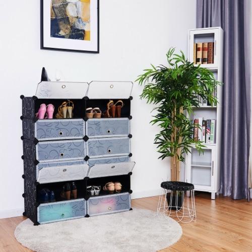Costway 12 Cubic Portable Shoe Rack Shelf Cabinet Storage Closet Organizer Home Furni Perspective: right
