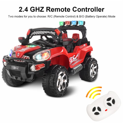 Costway 12V Kids Ride On Truck Car SUV MP3 RC Remote Control w/ LED Lights Music Perspective: right