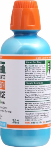 TheraBreath Invigorating Icy Mint Fresh Breath Oral Rinse Perspective: right