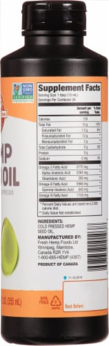 Manitoba Harvest Cold Pressed Hemp Seed Oil Perspective: right