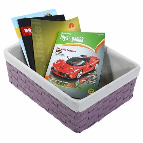 Juvale Nesting Baskets, Woven Storage Baskets (Lavender, 5 Piece Set) Perspective: right