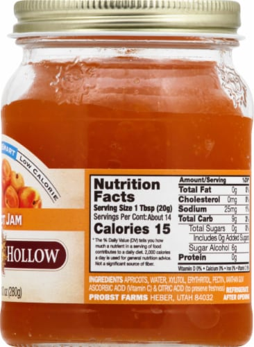 Nature's Hollow Sugar Free Apricot Jam Perspective: right