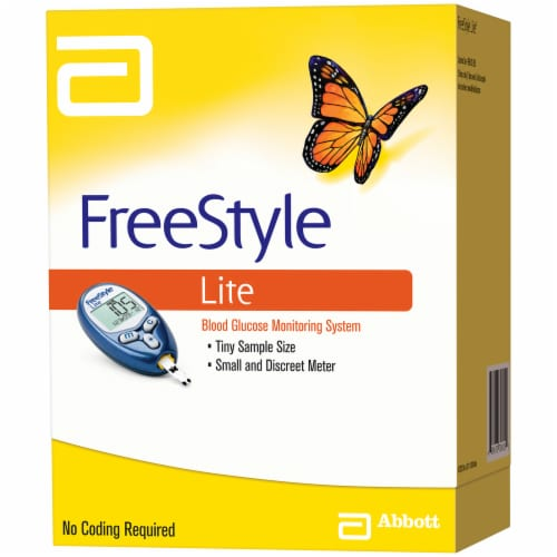 FreeStyle Lite Blood Glucose Monitoring System Perspective: right