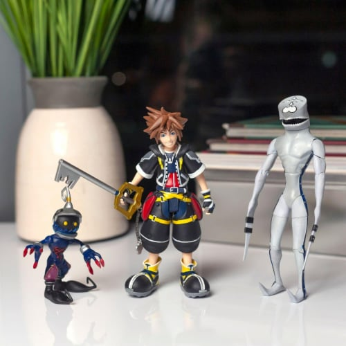 Kingdom Hearts 2 Action Figures Collection Set | Includes Sora, Dusk, & Soldier Perspective: right