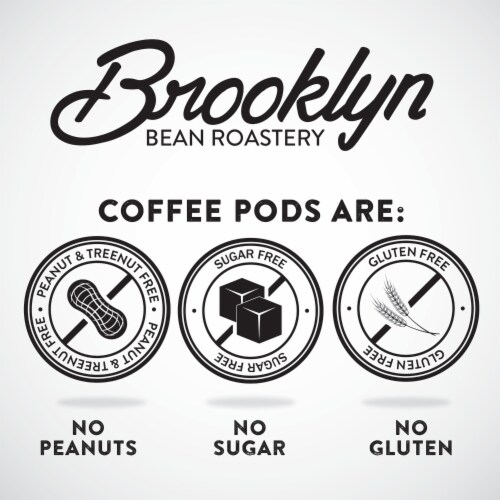 Brooklyn Beans Cinnamon Flavored Coffee Pods,  Cinnamon Subway, Four-24 Count Boxes Perspective: right