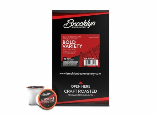 Brooklyn Beans Bold Variety Pack Coffee Pods for Keurig K-Cups Brewer, 40 count Perspective: right