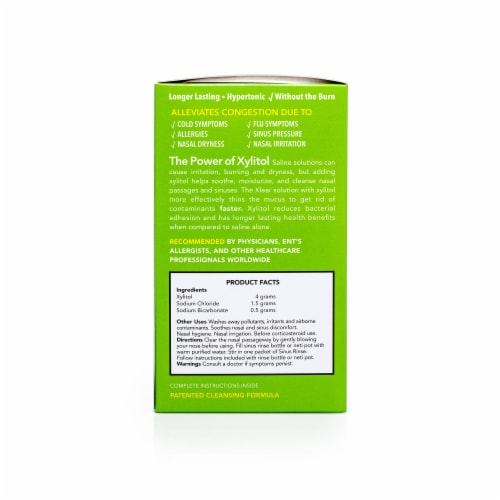 Xlear Natural Sinus Rinse Packets Perspective: right