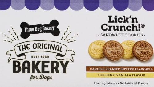 Three Dog Bakery Lick 'N Crunch Peanut Butter and Vanilla Dog Treats Perspective: right