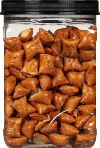 Three Dog Bakery Original Pet-zel Bites Peanut Butter Filled Dog Treats Perspective: right