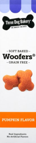 Three Dog Bakery Grain Free Woofers Soft Baked Pumpkin Dog Treats Perspective: right
