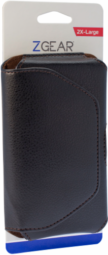 ZGear Premium Horizontal Leather Pouch for Large Smartphones - Black Perspective: right