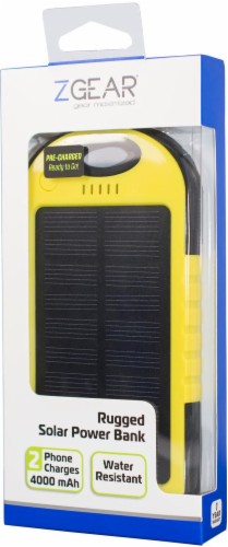 ZGear 4000mAh Solar Power Bank - Yellow/Black Perspective: right