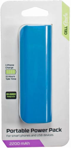 CELLCandy Portable USB Power Pack - Tropical Blue Perspective: right