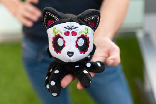Tentacle Kitty 4-inch Little Ones Plush - Day Of The Dead Sugar Skull Design Perspective: right